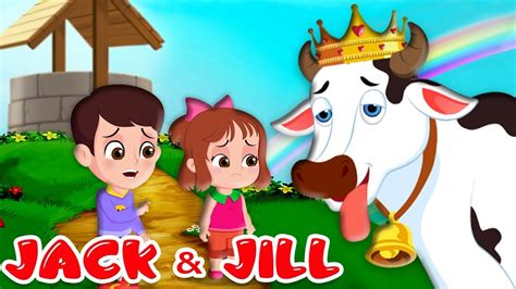 Jack and Jill Nursery Rhymes   Kids Songs with Lyrics   Went up the hill   FlickBox