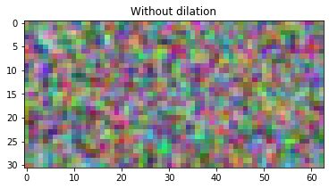 The DepthwiseConv2dNative() function ignores the dilations